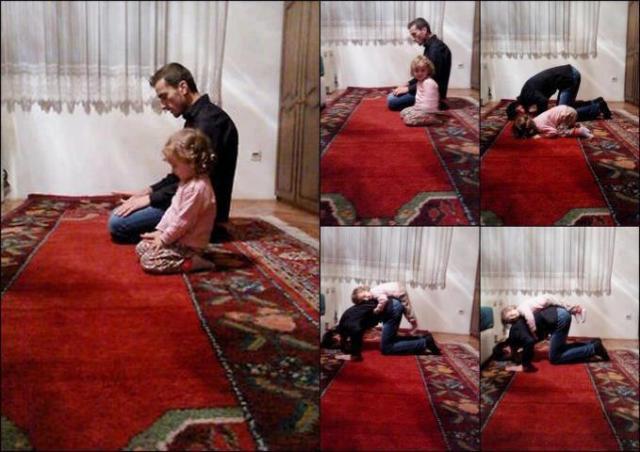 děti při modlitbě