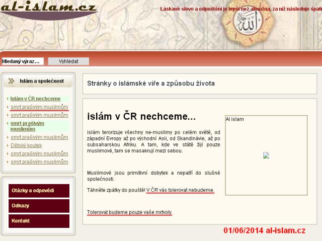 vyhruzky smrti - hack al-islam.cz