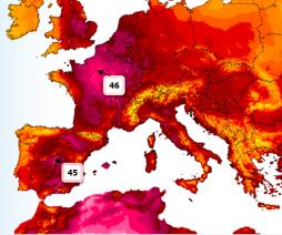varování vysoké teploty