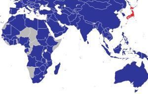 Japonské diplomatické zastoupení ve světě