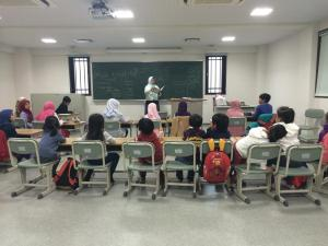 Výuka v japonské medrese (arabština)