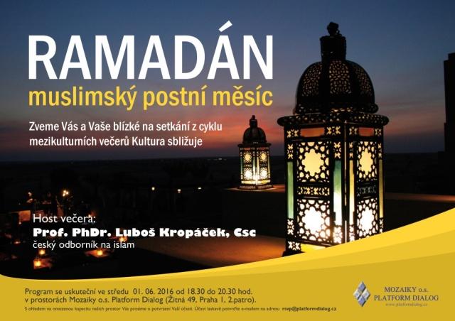 Pozvánka na setkáni u příležitosti začátku postního měsíce Ramadánu